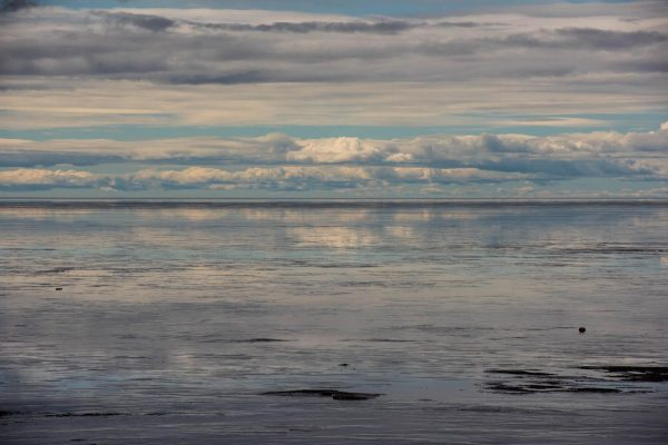 A cloudy seascape
