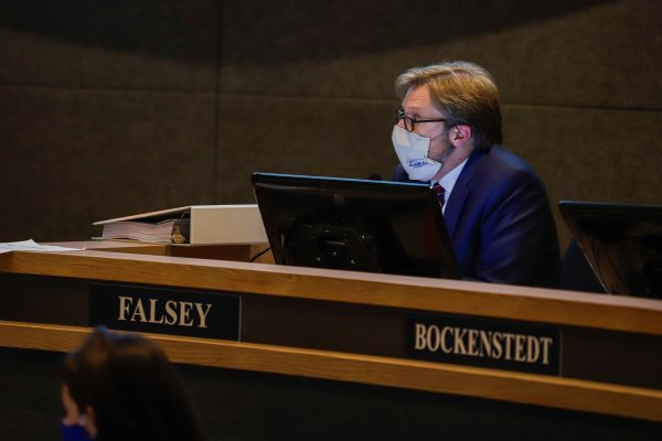 Anchorage city manager Bill Falsey at the Anchorage Assembly meeting on Tuesday, Oct. 13, 2020.