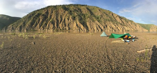 a camp on the Yukon River