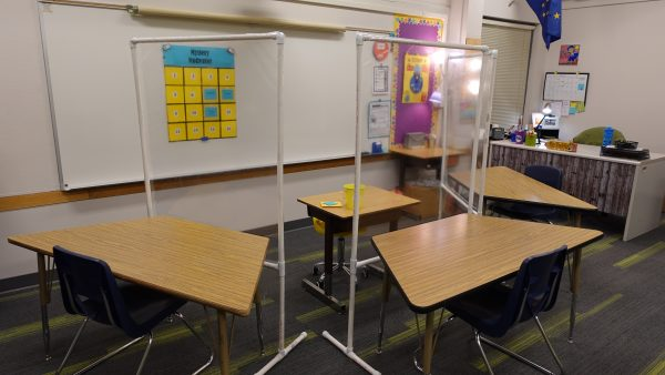 A special education, self-contained classroom at Huffman Elementary School.
