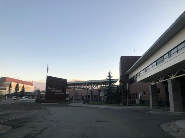A hospital parking lot