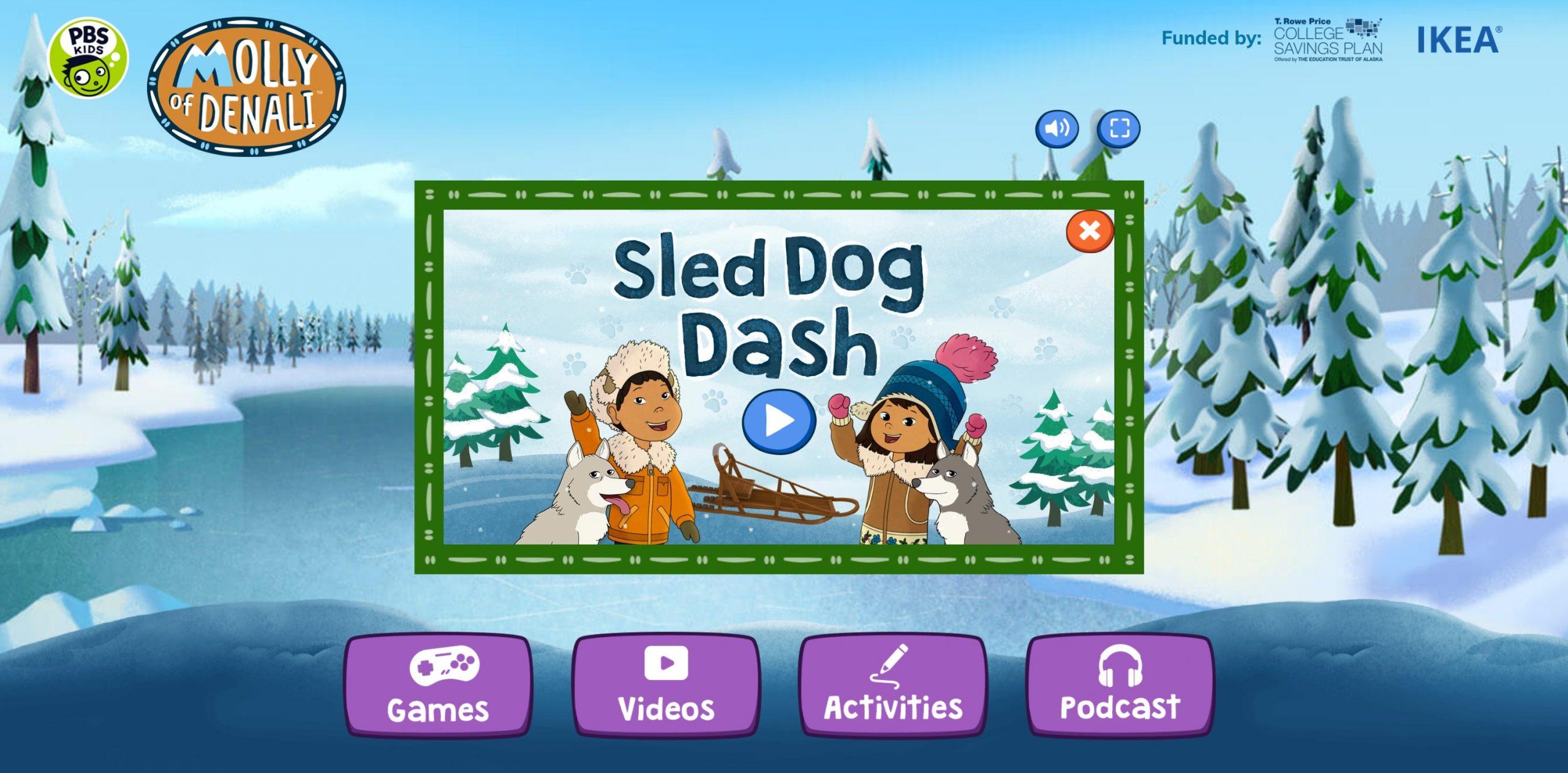 sled dog dash game