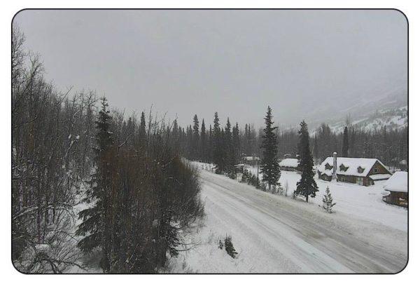 A snowy highway