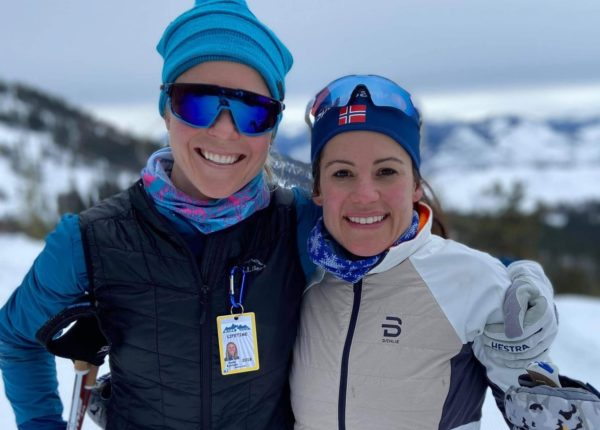 Sadie and Marine out skiing together