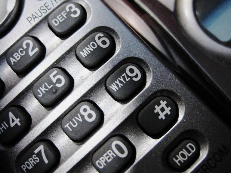 A phone keypad