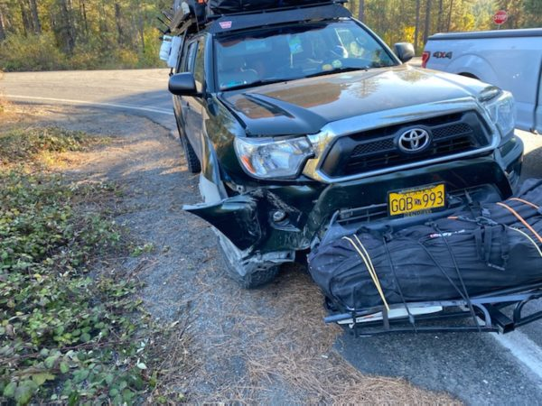 The truck after accident