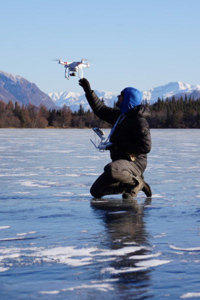 drone on ice