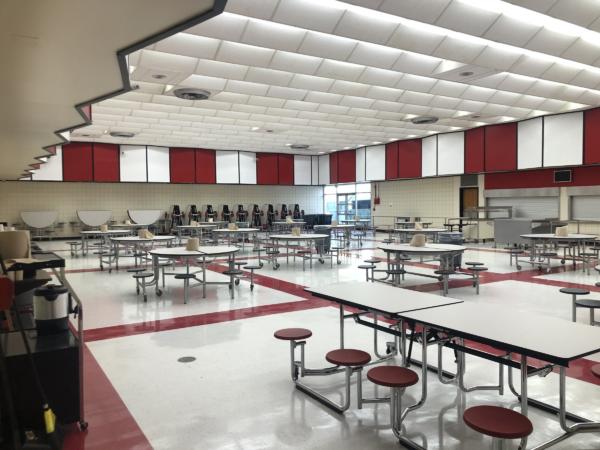 An empty cafeteria gym