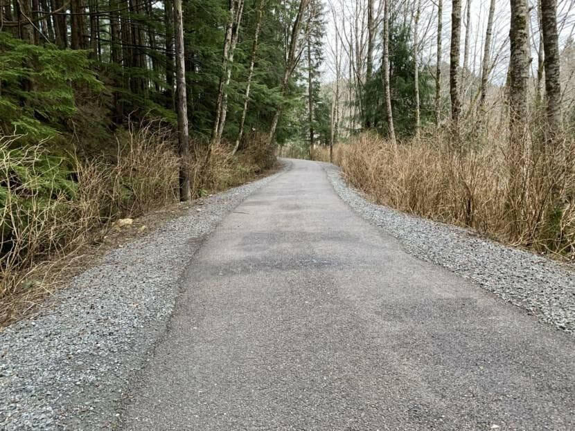 A paved bike path