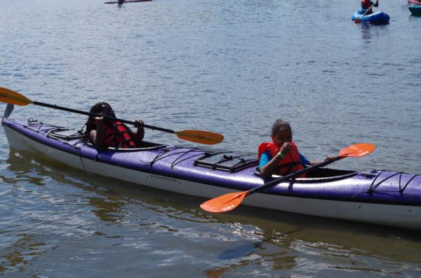 Children in a kayak