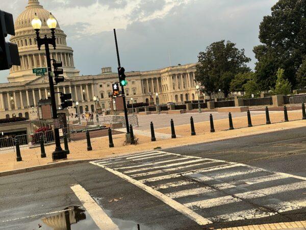 street scene in front of Capitol