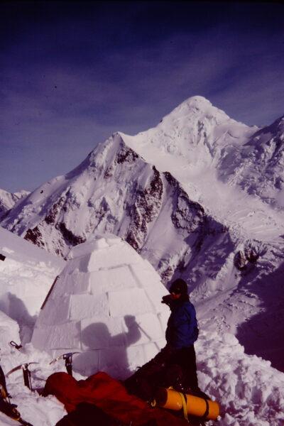 Mt Deborah basecamp igloo