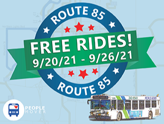MOA People Mover Free Rides Ad